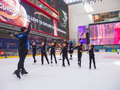 Summer skating lessons at Dubai Ice Rink