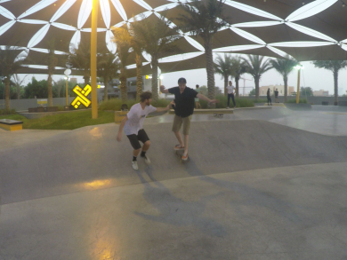 Win skateboarding lessons and XDubai merchandise!