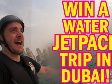 Win a water jetpack experience in Dubai
