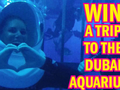 Win a trip to The Dubai Aquarium where we fed sharks