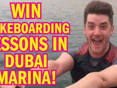 Win wakeboarding lessons in Dubai Marina