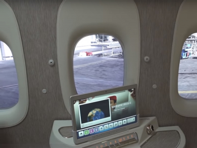 See how Emirates plans to remove windows from planes