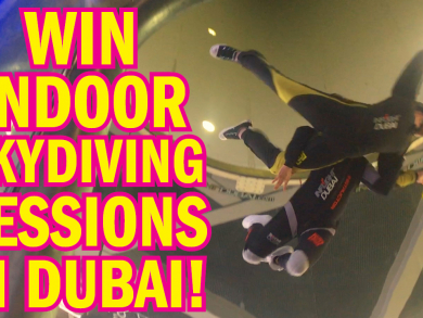 Win indoor skydiving sessions in Dubai