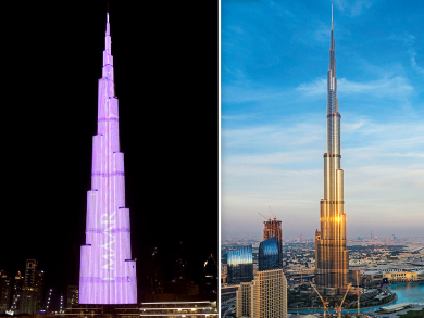 This is why the Burj Khalifa is lit up in pink