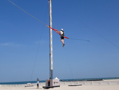 Win passes to XDubai's new human slingshot