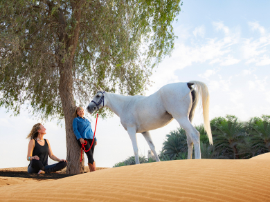 Horse yoga: the new trend coming to Dubai