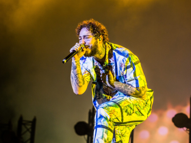 Post Malone at Abu Dhabi F1 Grand Prix 2018 –in pictures