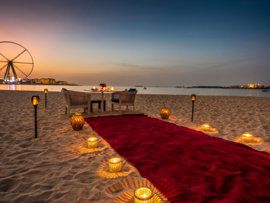 Have a beach date under the stars this Valentine's Day