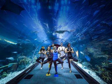 Underwater yoga returns to The Dubai Aquarium and Underwater Zoo