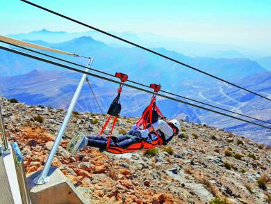 Get half-price tickets for the world's longest zipline in the UAE