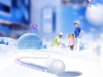 Chill out at the region's first ice-themed mini golf