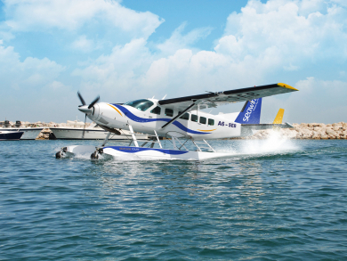Travel from Dubai to Abu Dhabi by seaplane for less this summer