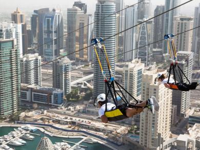Ride the world's longest urban zipline for less