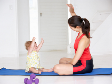 Try mummy and baby Pilates with Phoenix Rising