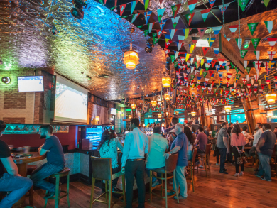 Wear your team's rugby jersey and get a free drink at McGettigan's