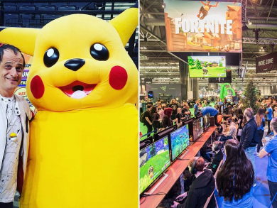 Pokémon singer Jason Paige performing live at Insomnia Gaming Festival