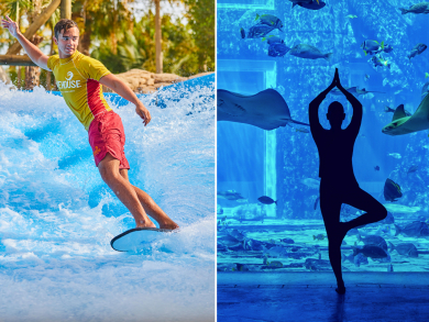 Dubai Fitness Challenge 2019: free underwater yoga and stand-up paddleboarding