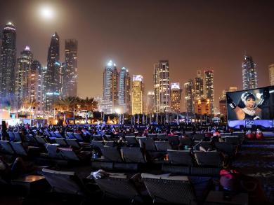 Watch The Bodyguard on the beach in Dubai