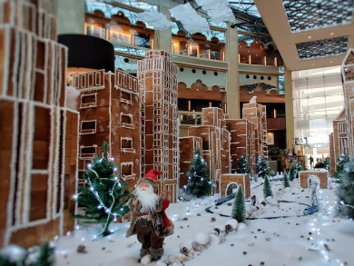 The H Dubai reveals Sheikh Zayed Road made with gingerbread and chocolate