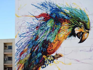 Amazing outdoor art in the UAE