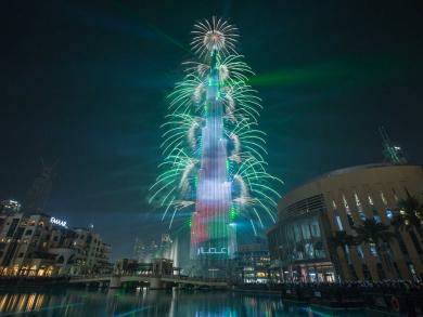 New Year's Eve in Dubai: Downtown Dubai celebrations with views of the Burj Khalifa fireworks