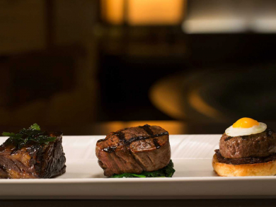 Tuck into a five-course set menu on New Year's Eve at Jumeirah Emirates Towers