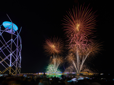 New Year's Eve in Dubai 2019-2020: fireworks at The Beach