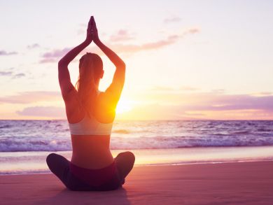 Enjoy sunset yoga and free spa access for Dhs99