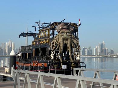Board the Black Pearl and enjoy a cruise along Dubai canal