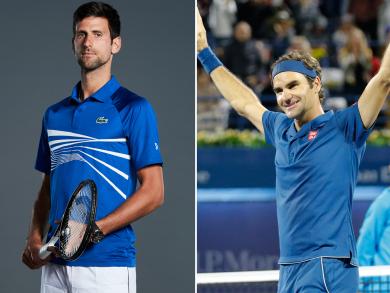 Tennis stars Djokovic and Federer to play at the Dubai Duty Free Tennis Championships