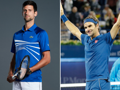 Tennis stars Djokovic and Federer to play at the Dubai Duty Free Tennis Championships
