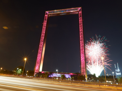 In pictures: Dubai Frame fireworks