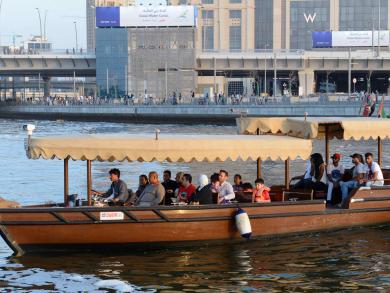 RTA deploys new abra transport on Dubai Marina and Dubai Creek