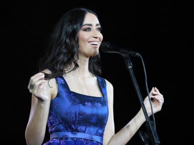 Syrian singer Faia Younan joins John Legend at massive Coca-Cola Arena gig