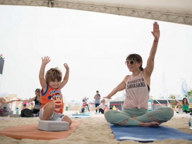 The region's largest family-friendly yoga festival is coming to Dubai