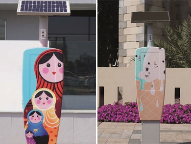 Emirati artists are giving parking meters an artsy makeover all over Dubai