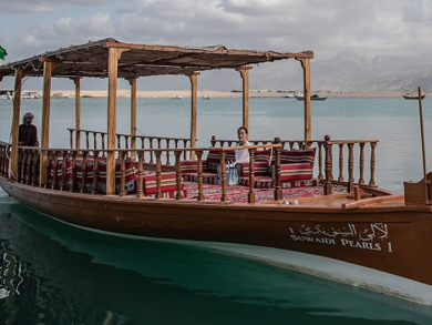 Go on a pearl dhow boat tour around the mangroves this Valentine's Day