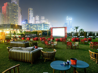 Watch Deadpool on the beach in Dubai this week