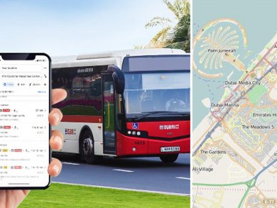 Real-time Dubai bus information now available in Google Maps