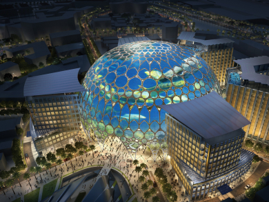 Work on Expo 2020 Dubai's central pavilion has been completed