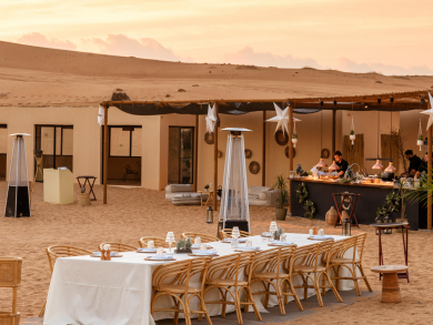 Have a Swiss Alps-themed camping experience in the Dubai desert