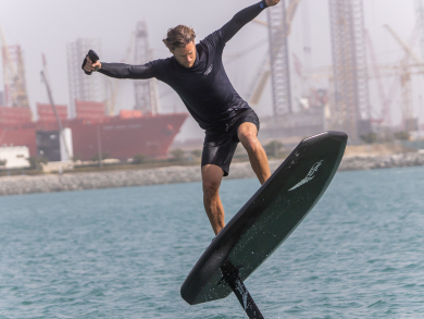 Watch: Dubai's world-first eFoiling training and surfing experience