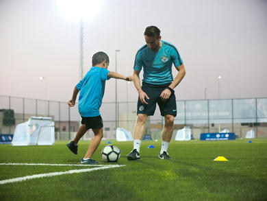 Manchester City FC is running online video tutorials for kids in the UAE