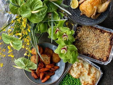 Dubai's Tom & Serg partners up with Fine Blooms for roast dinner and flower delivery