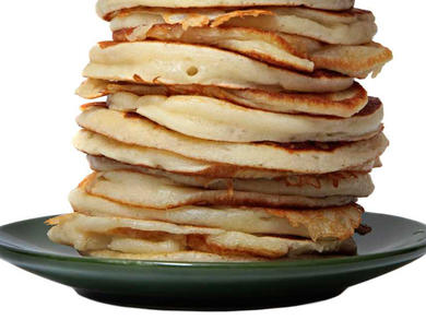 Recipe: Pancakes with caramelised banana, pecans and maple syrup
