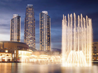 The Dubai Fountain resumes nightly shows
