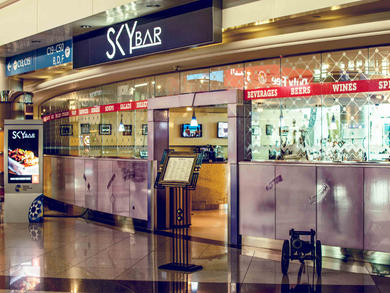 Bars in Concourse C, Terminal 3 at Dubai International Airport