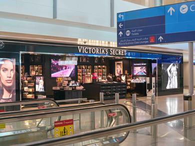 Shops in Concourse C, Terminal 3 at Dubai International Airport
