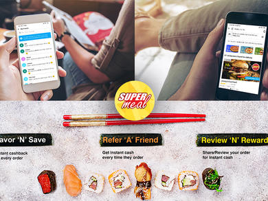 New online food ordering portal Supermeal rewards you every time you make an order