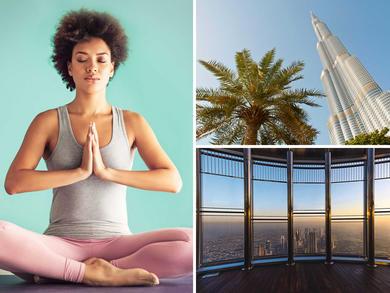 Take a yoga class 465 metres up the Burj Khalifa